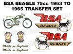 BSA Beagle V2 75cc 1963 to 1965 Transfer Decal Set